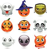 Holloween emoticons