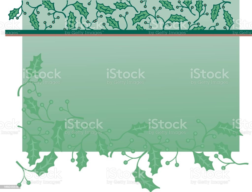 holly background 2 royalty-free stock vector art