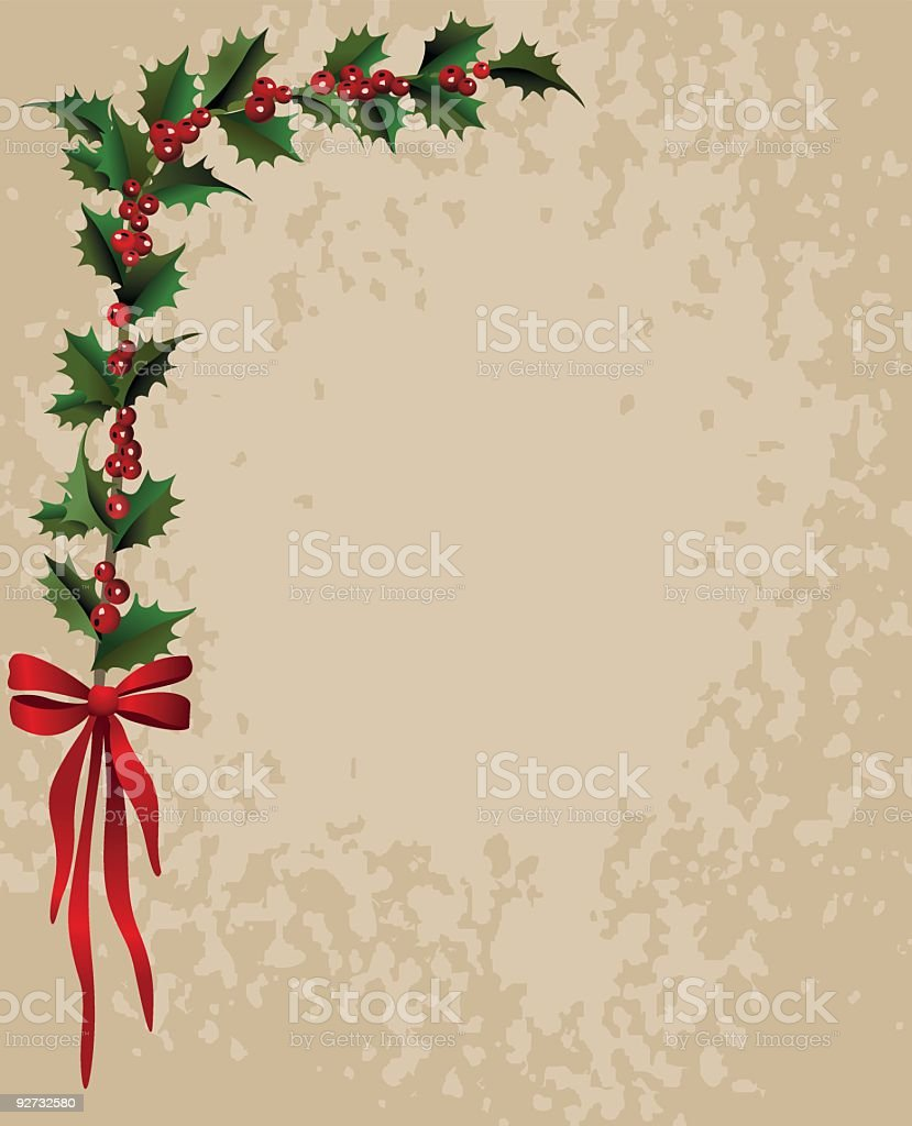 Holly Background royalty-free holly background stock vector art & more images of angle