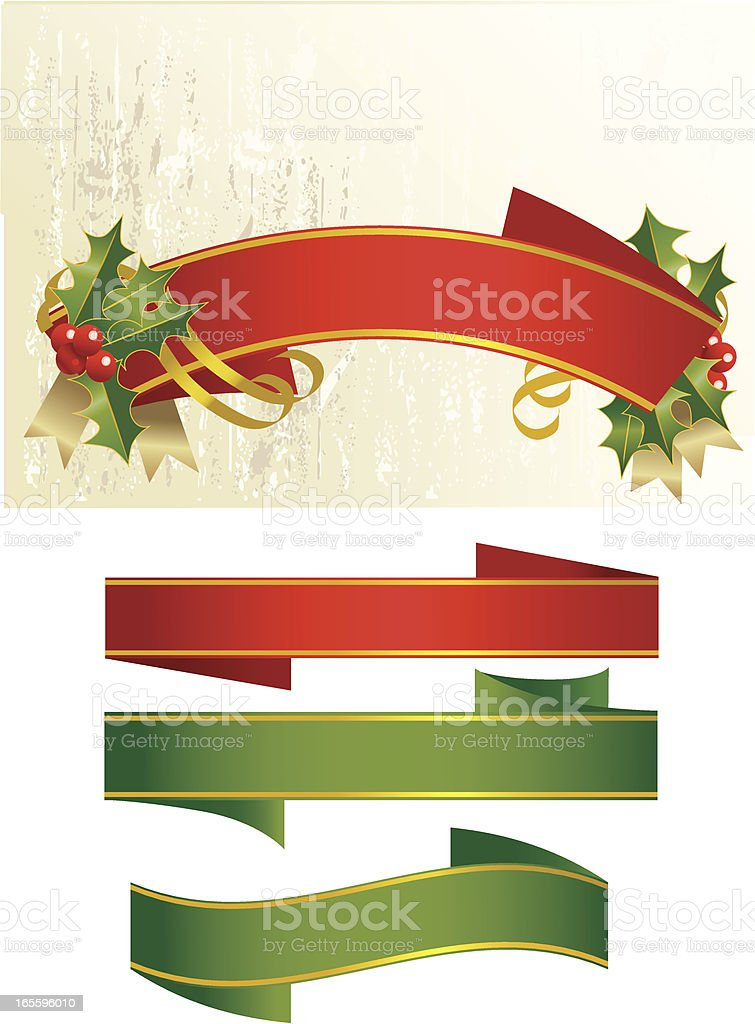 Holly Banner royalty-free holly banner stock vector art & more images of backgrounds