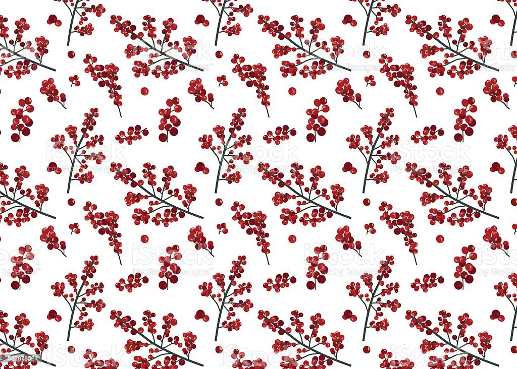 Aninimal Book: Holly Berry Background Seamless Repeating Pattern Stock ...