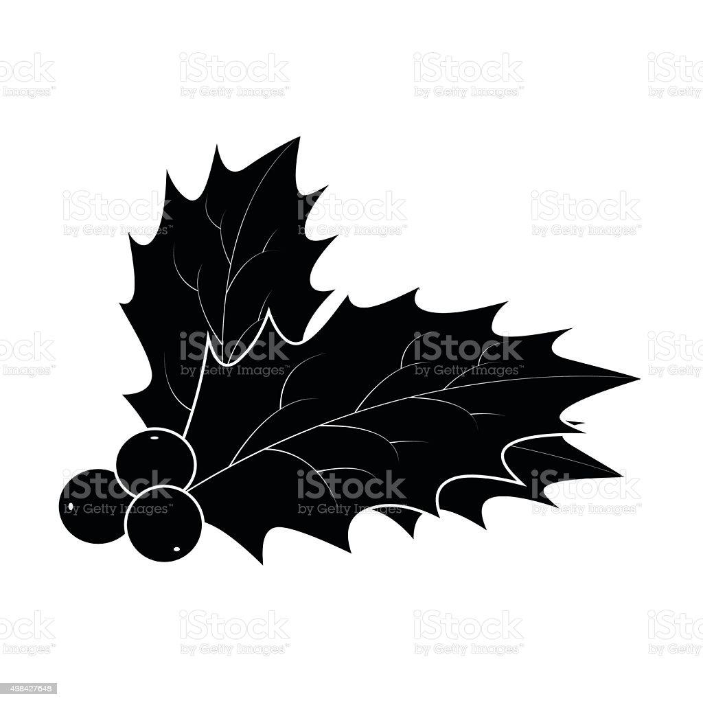holly berry silhouette weihnachten bl tter und. Black Bedroom Furniture Sets. Home Design Ideas