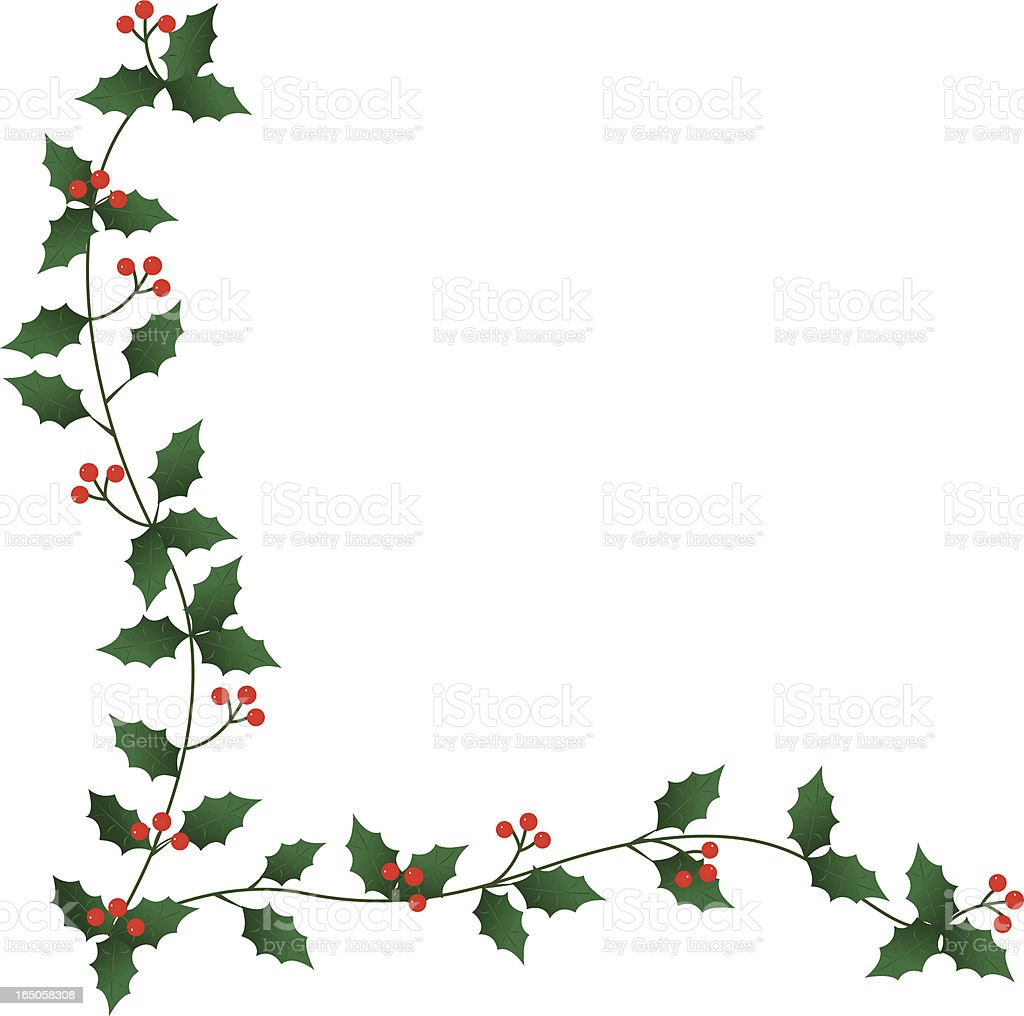 holly border stock vector art more images of berry fruit 165058308