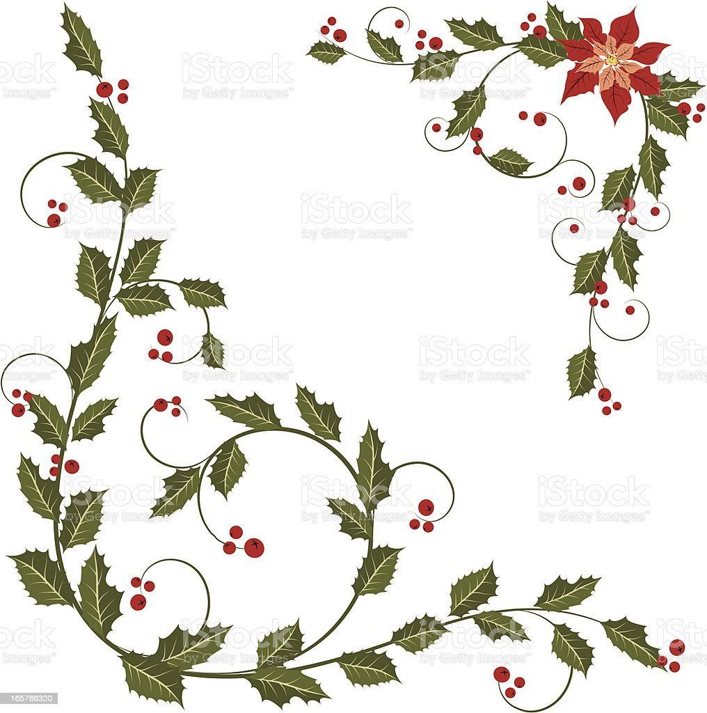 Holly coner ornament royalty-free holly coner ornament stock vector art & more images of angle