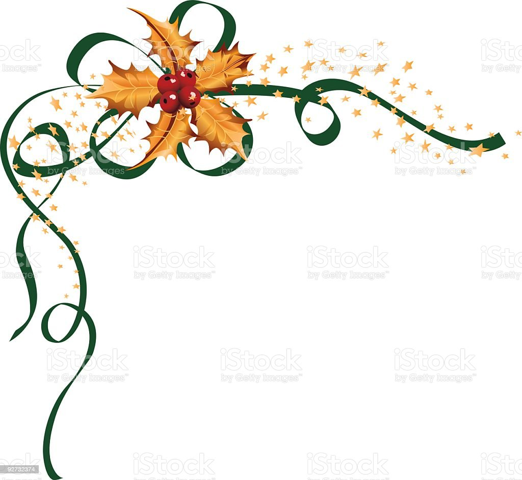 Holly Element royalty-free holly element stock vector art & more images of angle