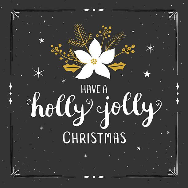 stockillustraties, clipart, cartoons en iconen met holly jolly christmas bouquet - kerstster