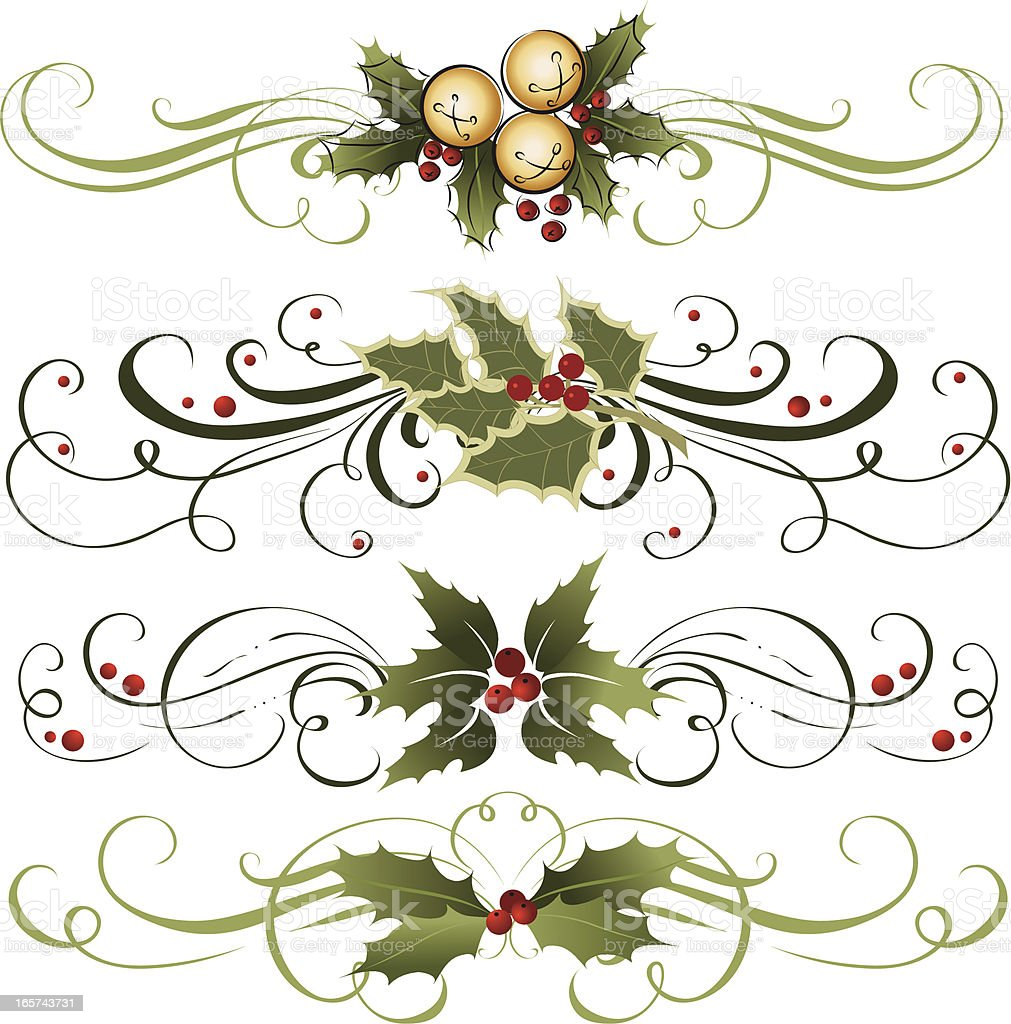 Holly ornament royalty-free stock vector art