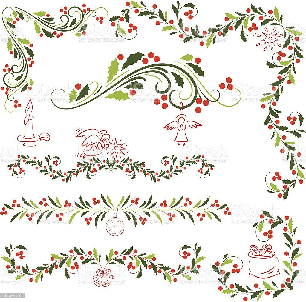 Holly   ornaments royalty-free holly ornaments stock vector art & more images of angel