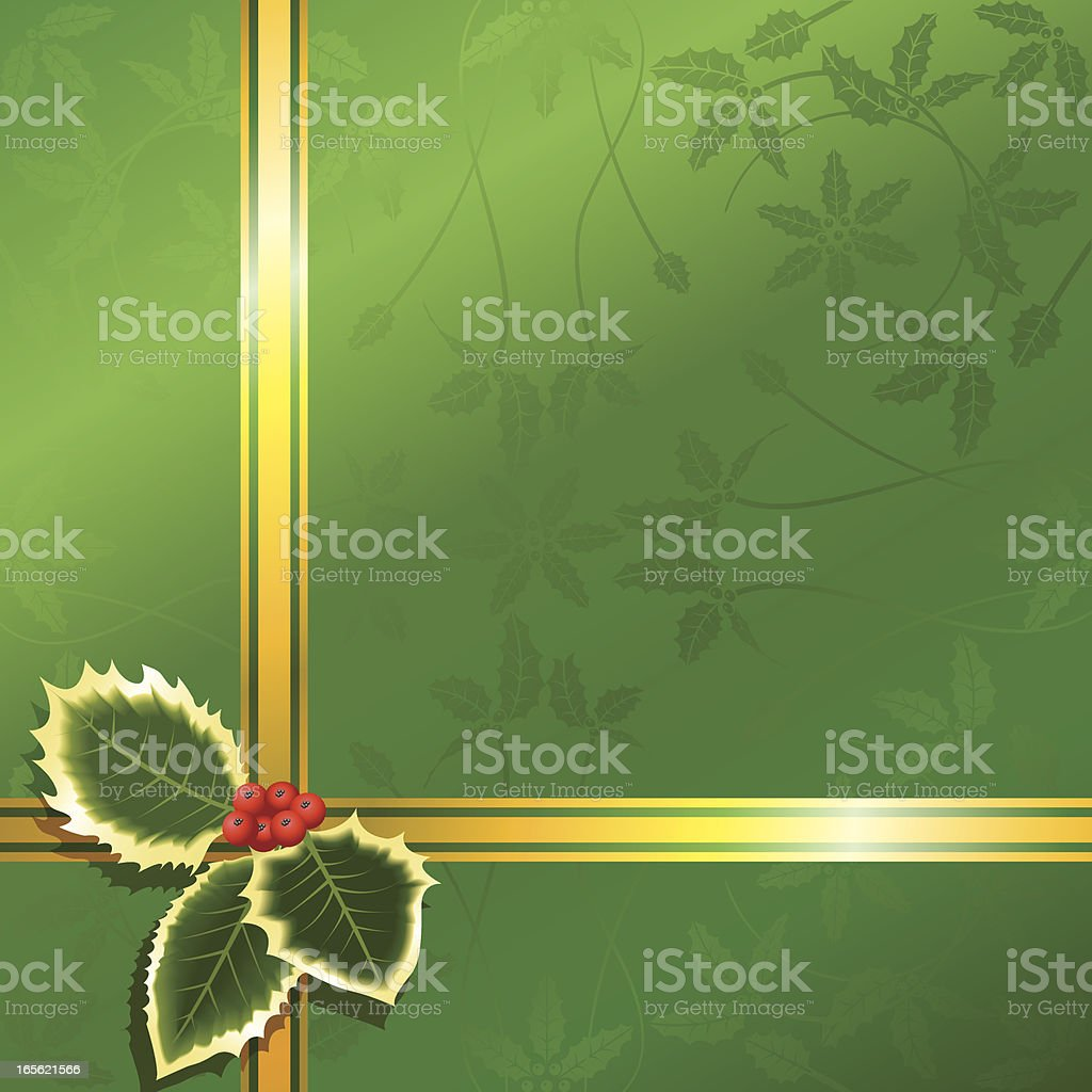 Holly Wrap royalty-free stock vector art