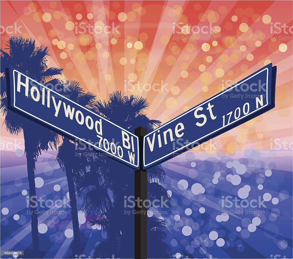 Hollywood and Vine royalty-free stock vector art