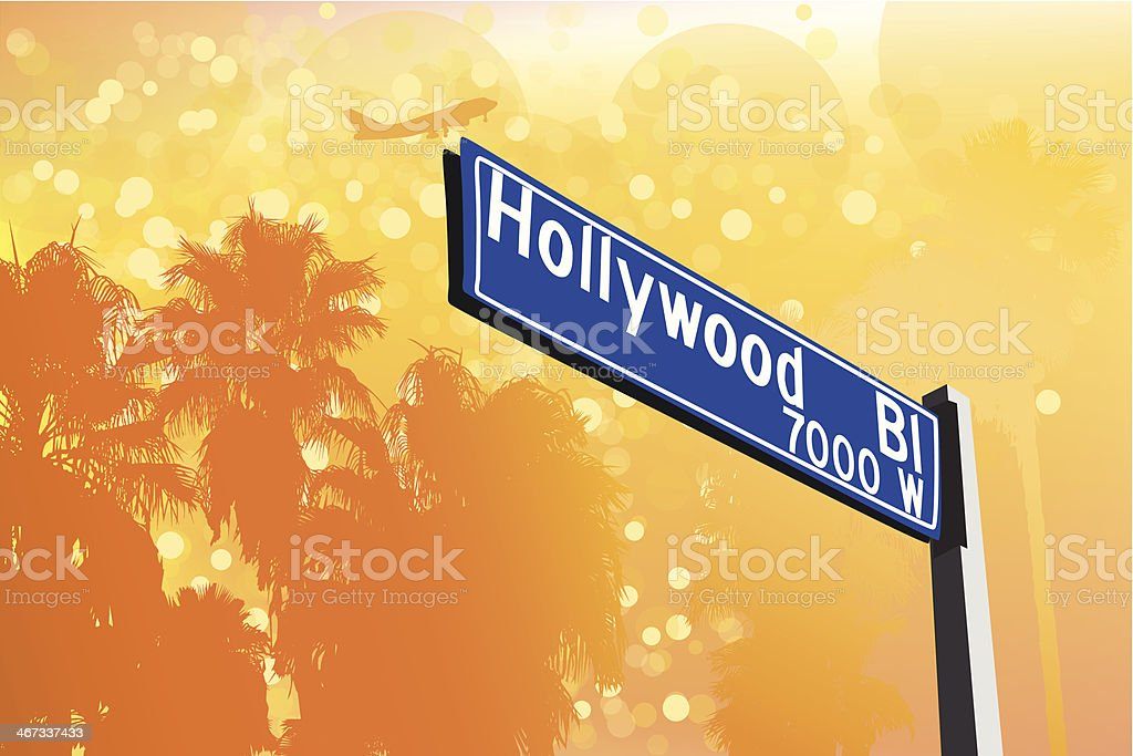 Hollywood Boulevard royalty-free hollywood boulevard stock vector art & more images of airplane