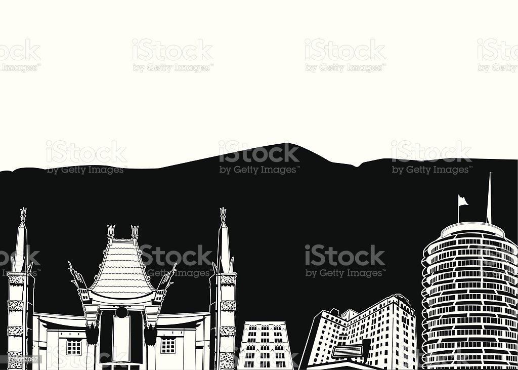 Hollywood Cityscape royalty-free hollywood cityscape stock vector art & more images of california