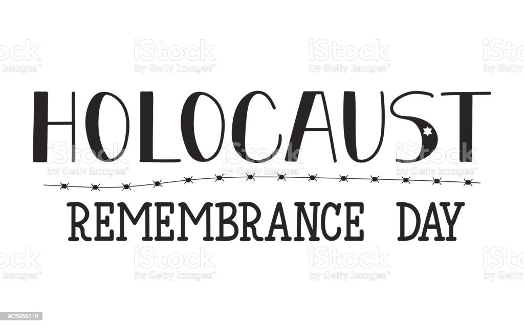 Holocaust Remembrance Day. January 27. Vector illustration vector art illustration