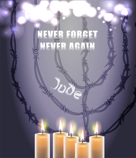 Holocaust Remembrance Day (Jewish-Yom Hashoah) Realistic and detailed Vector illustration mass murder stock illustrations