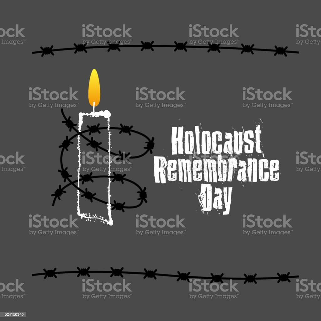 Holocaust Remembrance Day vector art illustration