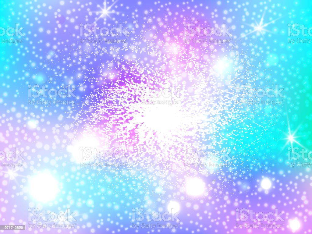Hologen Colorful Abstract Background Cute Galaxy Fantasy Bright