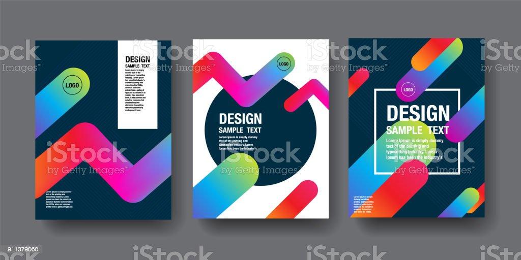 Hologram Abstract Background, Template Design, 3D vector, Holography Foil layout, Fluid Trendy design. vector art illustration