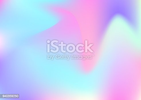 istock Holographic abstract background. 940359250