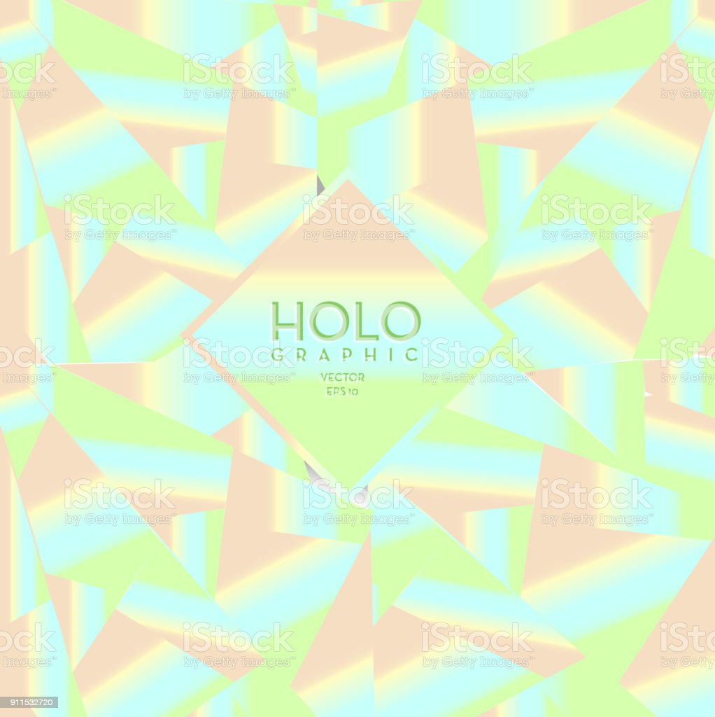 Holographic Background Design Template Stock Illustration
