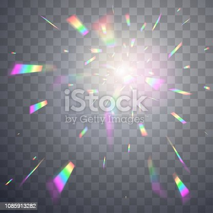Holographic effect background in vector