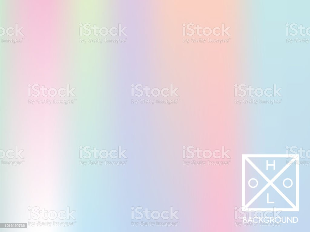 Holographic gradient cover. vector art illustration
