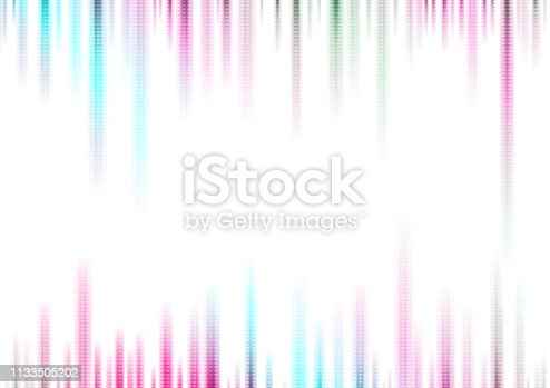 Holographic neon technical stripes abstract background. Vector concept illustration