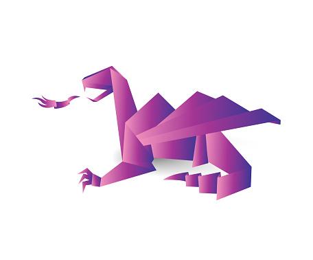 Holographic origami dragon