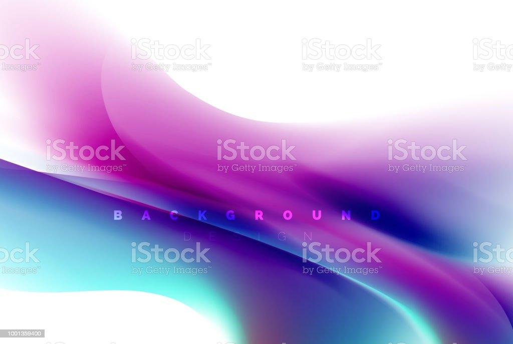 Behang Kleur Eucalyptus : Holografische verf explosie ontwerp vloeiende kleuren flow
