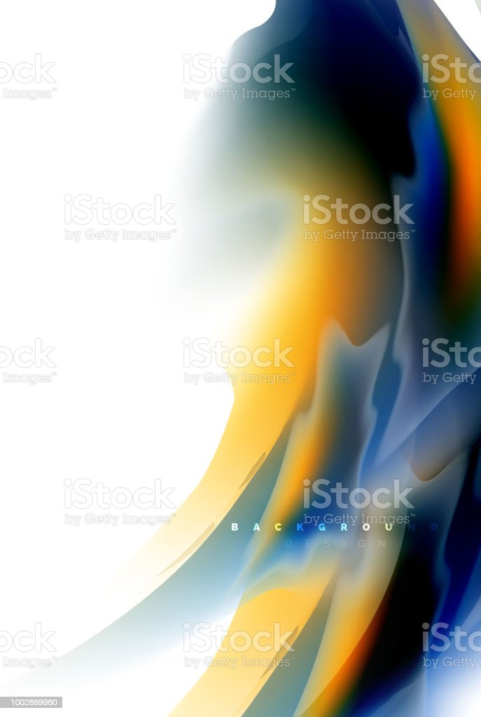Holographic Paint Explosion Design Fluid Colors Flow Colorful Storm Liquid Mixing Colours Motion