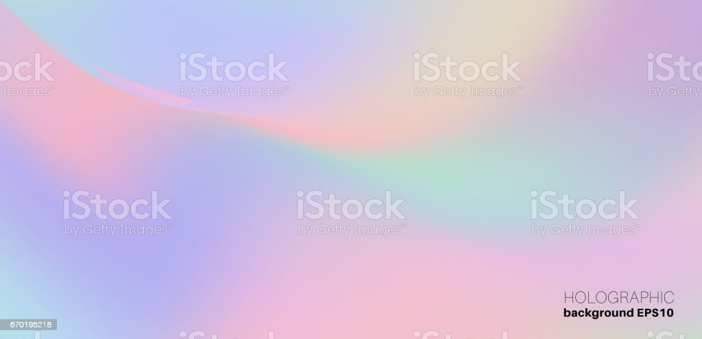 Holographic Trendy Background vector art illustration