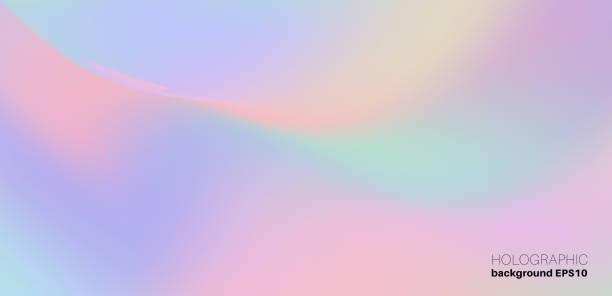 ilustrações de stock, clip art, desenhos animados e ícones de holographic trendy background - hologram