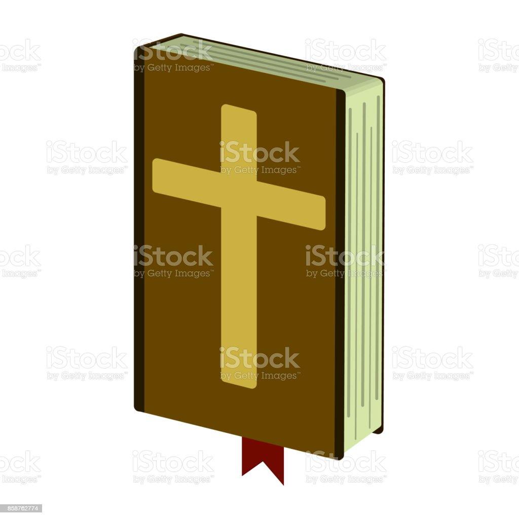 Vetores De Icone De Desenho Animado Biblia Sagrada Ilustracao Em