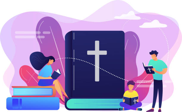 Holy bible concept vector illustration. vector art illustration