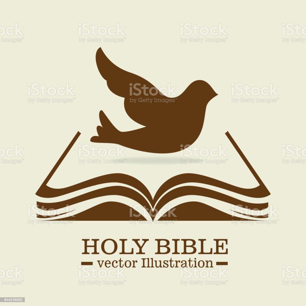 Mezquita Biblia diseño - ilustración de arte vectorial