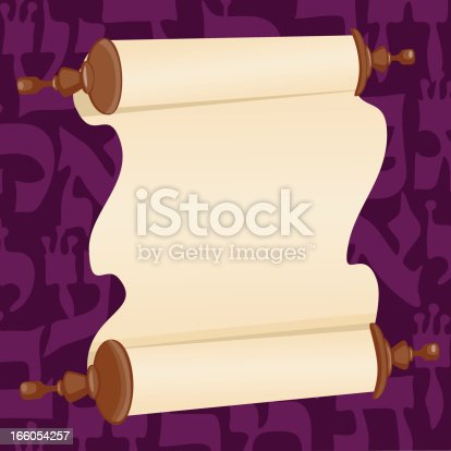 istock Holy Book Scroll  and  Background With Text 166054257