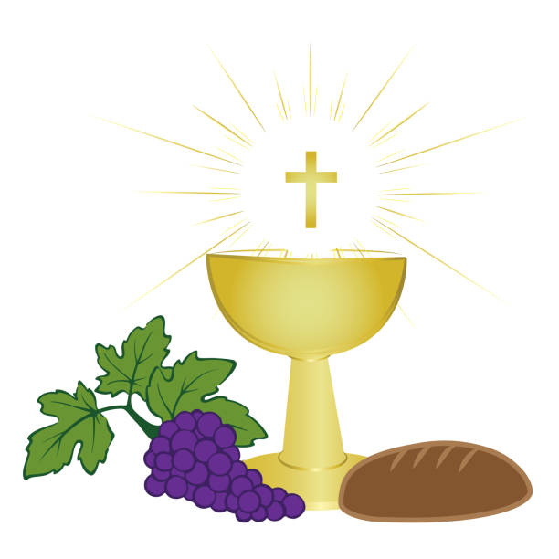 Royalty Free Communion Bread And Wine Clip Art Vector Images