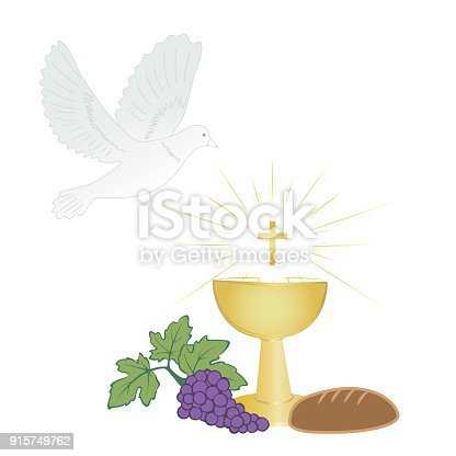 Holy Communion Symbols In Color Stock Vector Art More Images Of