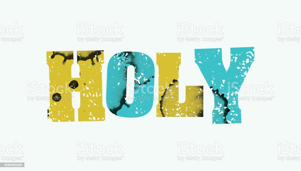 Holy Concept Stamped Word Art Illustration vector art illustration