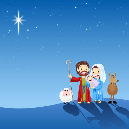 Holy Family In Holy Night