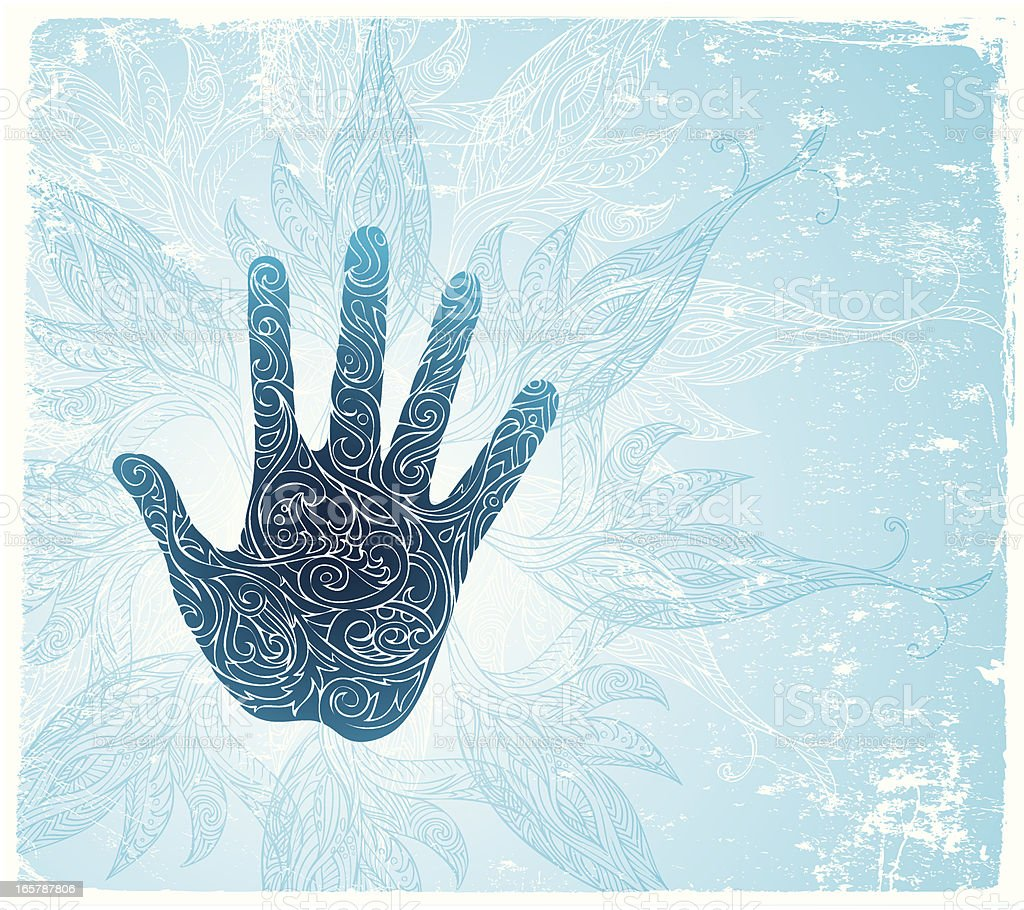 holy hand royalty-free stock vector art