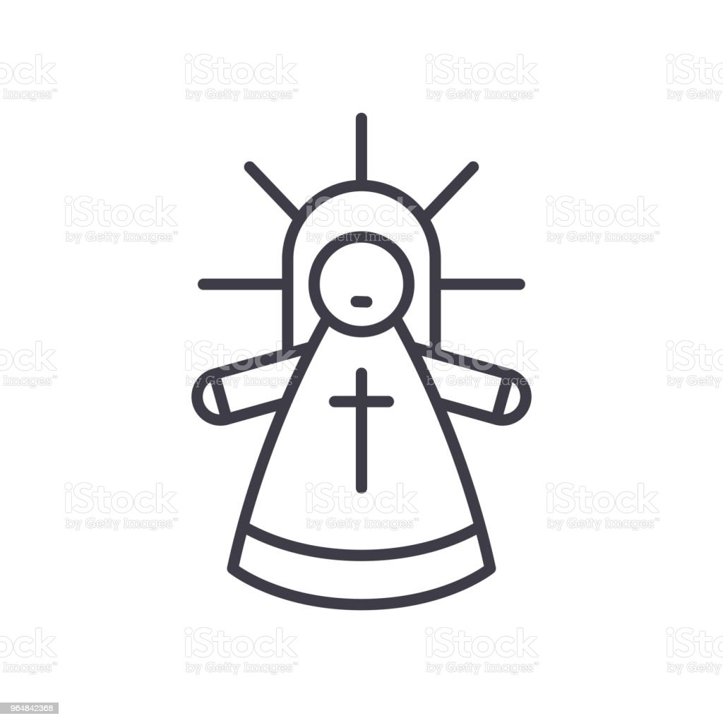 Holy man black icon concept. Holy man flat  vector symbol, sign, illustration. royalty-free holy man black icon concept holy man flat vector symbol sign illustration stock illustration - download image now