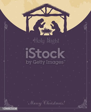 Baby Jesus Christ with Mary and Joseph design