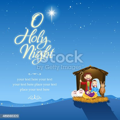 Holy family and holy night.