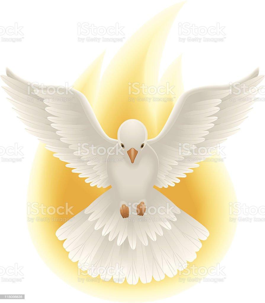 Holy Spirit art vector art illustration