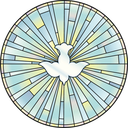 Holy Spirit Stained Glass Window
