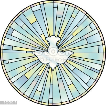istock Holy Spirit Stained Glass Window 165058518
