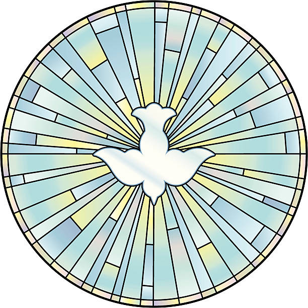 holy spirit buntglasfenster - kommunion stock-grafiken, -clipart, -cartoons und -symbole