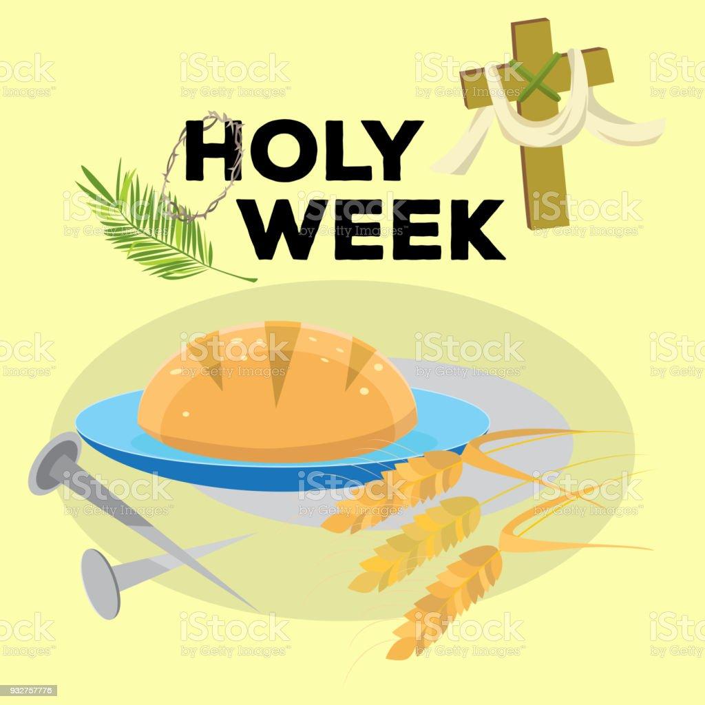 Ilustración de Semana Santa última Cena De Jesucristo Jueves Santo ...
