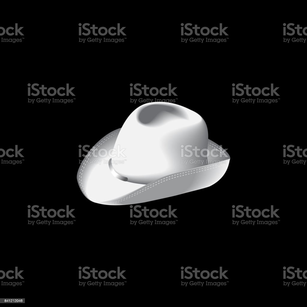 65dda32130f18 Homburg Hat White Color Isolated Vector Stock Vector Art   More ...