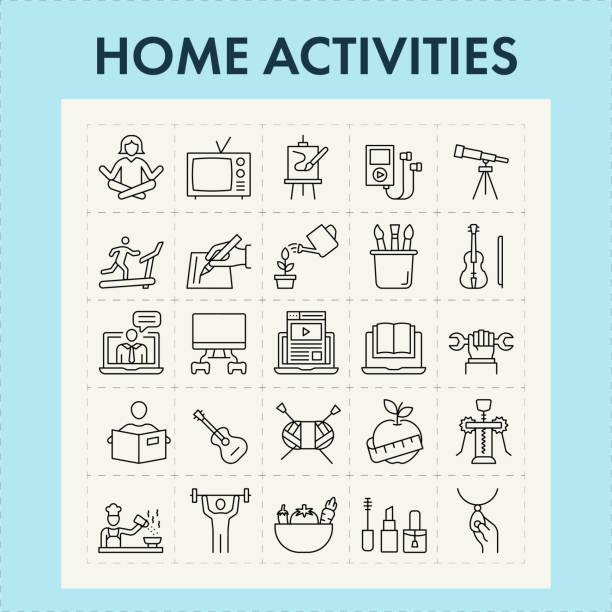 主頁 活動行圖示集 - 休閒活動 主題 幅插畫檔、美工圖案、卡通及圖標